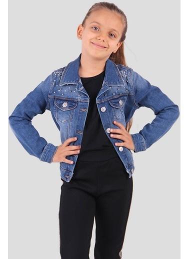 Breeze Kız Çocuk Ceket Taşlı Mavi